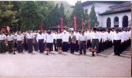 Gambar 8 . Peserta upacara peringatan Hari Bhakti Postel.