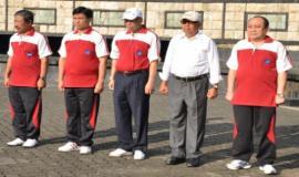 Barisan perwakilan dari masing-masing unit kerja Ditjen SDPPI