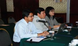 Pembukaan rapat oleh Kepala Bagian Penyusunan Program dan Pelaporan Ditjen SDPPI yang didampingi pembicara dari Biro Perencanaan dan BAPENAS sebagai narasumber