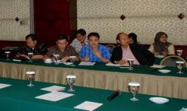 Para anggota perwakilan dari SDPPI sedang mengikuti Rapat Rencana Kerja Pemerintah (RKP) DITJEN SDPPI