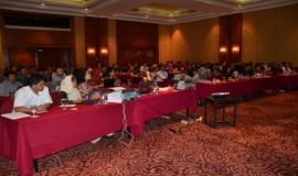 Seluruh peserta dalam acara Rekonsiliasi dan Penyusunan Laporan Keuangan Semester ke-II Tahun 2011.