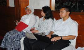 Para peserta yang menghadiri acara workshop yang diadakan oleh Ditjen SDPPI