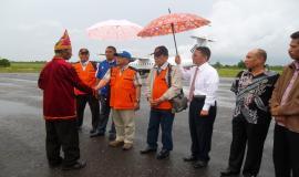 Penyambutan Bapak Dirjen SDPPI , Ketua ORARI, dan rombongan