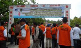 Penyambutan Bapak Dirjen di desa Ngilngof, Kei Kecil, Maluku Tenggara