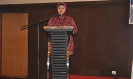 Sambutan dan Pembukaan oleh Ibu Arifah, Kasubdit Konsultasi dan Data Operasi Sumber Daya mewakili Dirjen SDPPI