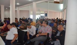 Para peserta Rapat Koordinasi Internal Ditjen SDPPI yang terdiri dari pejabat dan pegawai dari Kantor Pusat dan UPT di Indonesia