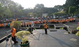 Tampak  suasana dalam foto  silaturahmi Idul Fitri 1438 H pegawai Ditjen SDPPI (4/7). Kegiatan tersebut  dilaksanakan di hari kedua setelah cuti bersama.