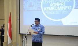 Sambutan Ketua III Dewan Pengurus Korps Pegawai Republik Indonesia (Korpri) Nasional Ukus Kuswara