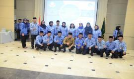 Foto Bersama Menteri Kominfo dan Pengurus Korpri