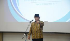 Menteri Kominfo Rudiantara memberikan sambutan dan arahan