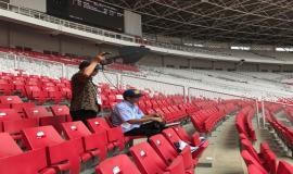 Petugas Monitoring Direktorat Ditjen SDPPI  dalam mendukung kegiatan Asian Games 2018