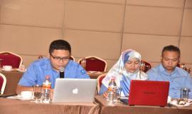 Kasubag TU Direktorat Operasi Sumber Daya (Ditjen SDPPI) Doni Ali Rahman Menyampaikan laporan terkait dengan Tupoksinya