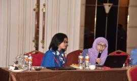 Kabag Umum dan Kepegawaian Sekditjen SDPPI (Dila) menyampaikan laporan sesuai dengan tupoksinya