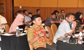 Peserta Workshop Tingkatkan Wawasan Pengelola BMN, SDPPI Adakan Workshop Aset Tak Berwujud sedang melakukan Pertanyaan pada Narasumber terkait dengan Tupoksinya
