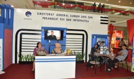 Stand pameran Ditjen SDPPI dalam gelaran Pameran Perdagangan, Pariwisata, dan Investasi (Manado PPI Expo) 2018.