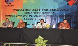 Workshop Aset Tak Berwujud Direktorat Jenderal SDPPI, Kementerian Kominfo dibuka oleh Kabag Umun dan Kepegawaian      dalam hal ini mewakili Sekditjen SDPPI