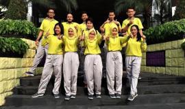 Foto bersama Tim Senam Ditjen SDPPI (Kemkominfo) untuk memeriahkan kegiatan lomba Hari Kartini 2018