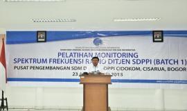 Ketua Panitia Pelatihan Monitoring Spektrum Frekuensi Radio Sekditjen (Sadjan) melaporkan terkait dengan Tupoksinya