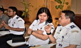 Perwakilan dari Kementerian Perhubungan turut serta hadir dalam acara Workshop Technical Assistance on the Radio Frequency for Small Vessel use for Fishing Activity in Indonesia.