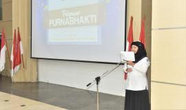 Petugas Mc Pelepasan PurnaBhakti Tahun 2018 di Lingkungan Kementerian Komunikasi dan Informatika 30/4