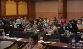 Para peserta acara Evaluasi dan Monitoring Capaian Kinerja dan Anggaran Ditjen SDPPI Triwulan I 2018 (4/5/18).