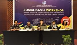 Para Narasumber Sosialisasi & Workshop Manajemen Sumber Daya dan Perangkat Pos dan Informatika 3/4 - 2018