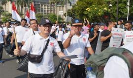 Turut hadir Sesditjen SDPPI Sadjan dan Kabagum Setditjen Hasyim Fiater dalam acara peringatan Hari Kebangkitan Nasional (Harkitnas) (13/5).