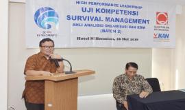 Direktur Operasi SDPPI Dwi Handoko memberikan arahan dan menutup Pelatihan Manajemen Survival (Batch 2) (26/5).