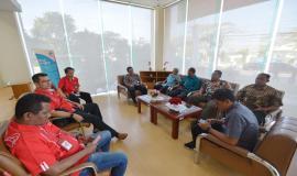 Para tamu undangan perserta upacara pada acara Pelepasan Tim Posko Monitoring SFR Lebaran 2018 (8/6).