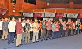 Para Pegawai Ditjen SDPPI, Kemkominfo  menggelar halal bihalal di Balairung Soesilo Soedarman, Gedung Sapta Pesona, Jakarta dihadiri oleh para pejabat eselon dua, tiga, dan empat, pegawai serta mitra kerja Ditjen SDPPI.