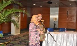 Petugas Mc Ditjen SDPPI (22/6) 2018, menggelar halal bihalal di Balairung Soesilo Soedarman, Gedung Sapta Pesona, Jakarta dihadiri oleh para pejabat eselon dua, tiga, dan empat, pegawai serta mitra kerja Ditjen SDPPI.