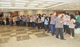 Ditjen SDPPI Kemkominfo menggelar halal bihalal di Balairung Soesilo Soedarman, Gedung Sapta Pesona, Jakarta dihadiri oleh para pejabat eselon dua, tiga, dan empat, pegawai serta mitra kerja Ditjen SDPPI.