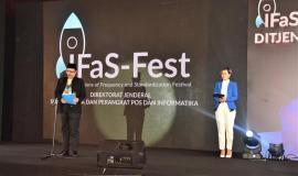 Petugas Pembaca Do'a dalam acara  Ifas-fest Direktorat Jenderal Sumber Daya dan Perangkat Pos dan Informatika 26/7  2018