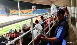 Tim Monitoring Ditjen SDPPI sedang melakukan pengecekan terkait dengan Asian Games 18/8 2018