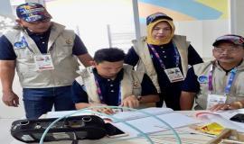 Tim Monitoring Balmon Palembang Ditjen SDPPI sedang melukan pendataan/pengecekan di Stadion Jakabaring Sport Center (JSC) Palembang, Sumatera Selatan, yang merupakan tempat-tempat pertandingan prioritas seusai Izin Stasiun Radio (ISR) sementara yang dikeluarkan Ditjen SDPPI untuk INASGOC.
