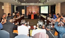 Sekditjen SDPPI (Sadjan) membuka acara media briefing 24/8 2018
