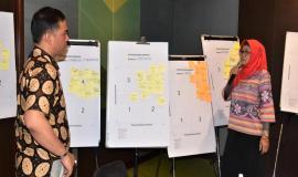 Kasubdit, konsultasi dan data operasi sumber daya Direktorat Operasi (PPI) Fidyah Ernawati  mempresentasikan stakeholders mapping dan pengumpulan data informasi yang terkait dengan Tupoksinya 12/10