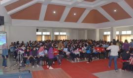 Situasi pada saat kegiatan Frequency Goes to Campus (13/9) berlangsung.