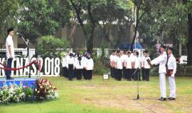 Petugas Upacara Sumpah Pemuda Kementerian Komunikasi dan Informatika 29/10 2018