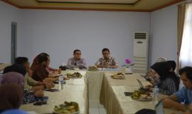 Rapat Kerja yang dilakukan di Balai Monitor Kelas II Palu (26/10).