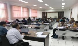 Ujian evaluasi untuk menilai pemahaman peserta terhadap materi pelatihan (27/10).
