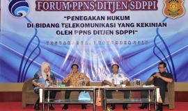 Narasumber lain yang berbicara dalam forum ini antara lain Jaksa Agung Muda Pidana Umum Daru Tri Sadono, kemudian Nilo Arief Seno dari Biro Korwas PPNS Bareskrim Polri, dan Salahudin dari Kementerian Hukum dan Ham 1/11 2018