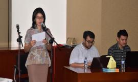 Pembawa Acara (Yunita Ramadhani) dalam acara Kunjungan Siswa SMK Negeri Rajapolah Tasikmalaya,Jawa Barat 8/11