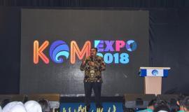 Sambutan Dirjen SDPPI pada kegiatan KOMexpo 2018 sekaligus membuka kegiatan secara resmi (26/11).