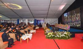 Kegiatan  Anugerah Jurnalistik Kominfo dibuka dengan tarian Saman dari SMK Telkom Jakarta (28/11).