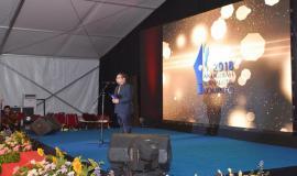 Plt. Kepala Biro Hubungan Masyarakat Kemkominfo Ferdinandus Setu menyampaikan laporan kegiatan dalam kegiatan Anugerah Jurnalistik Kominfo 2018 (28/11).