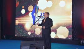 Sesditjen SDPPI R. Susanto membacakan pemenang salah satu kategori lomba dalam kegiatan Anugerah Jurnalistik Kominfo 2018 (28/11).