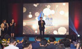 Ketua Komisi Penyiaran Indonesia (KPI) Pusat Yuliandre Darwis memberikan apresiasi kepada jurnalis yang sangat luar bisa dalam kegiatan Anugerah Jurnalistik Kominfo 2018 (28/11).