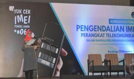Laporan Panitia disampaikan oleh Siti Haroyah Kepala seksi Standar kualitas pelayanan Ditjen SDPPI 29/11 2018