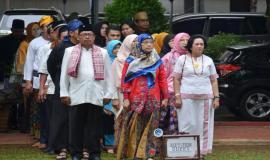 Perwakilan Unit Kerja Ditjen SDPPI yang turut menghadiri Upacara Bendera Peringatan Hari Ibu (26/12).